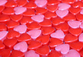 Candy Hearts background. Valentine's Day — Stock Photo