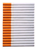 Cigarettes isolated on white. Background — Foto de Stock