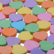 Colorful Hearts. Sweetheart Candy. Valentines Day background — Stock Photo #40129775