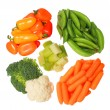 Healthy Organic Vegetables isolated on white background. Peppers — Stock Photo