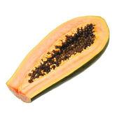 Papaya isolated on white — Stock Photo