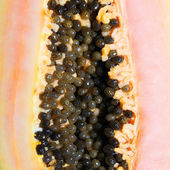 Papaya closeup. Background — Stock Photo