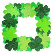 St. Patrick's Day. Shamrock Frame isolated on white — Stock Photo
