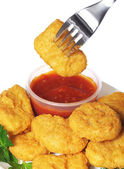 Chicken nuggets with ketchup. Fast Food — Stock Photo