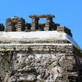 Megalith in Palenque, Mexico. Fragment of The Palace Observation — Stock Photo