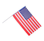 American Flag isolated on white — Stock Photo