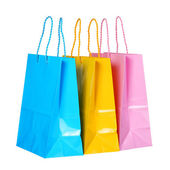 Colorful Shopping Bags isolated on white — Stock Photo