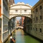 Venice. Gondolas passing over Bridge of Sighs — Stock Photo #51785747