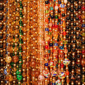 Beads background. Colorful Jewelry of Murano Glass  — Stok fotoğraf