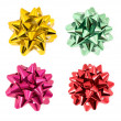 Stock Photo: Shiny bows isolated on white