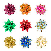 Set of colorful bows — Stock Photo