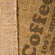 Background with texture of burlap — Stock Photo