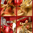 Set of Christmas still lifes - Foto Stock
