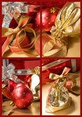 набор рождественских натюрморты — Стоковое фото