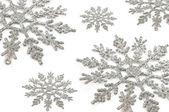 Silver snowflakes — Стоковое фото