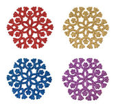 Decorative colorful snowflakes — Stock Photo
