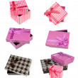 Set of isolated gift boxes — Stock Photo #15398349