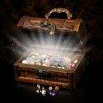 Antique chest of pirate treasure — Stock Photo #15447767