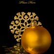 Stock Photo: Christmas golden ball