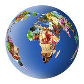 Stylized globe of the many photographs — Stock Photo