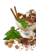Vanilla and coffee ice cream — Stock Photo