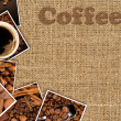 Collage with photos coffee — Stock Photo
