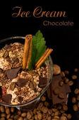 Café crème glacée chocolat et cannelle — Photo