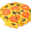 Royalty-Free Stock Photo: Vegetarian pizza with mushrooms
