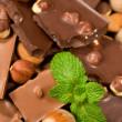Background with chocolate — Stock Photo