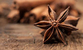 Star anise close up — 图库照片