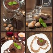 Collection of chocolate desserts - Stock Photo