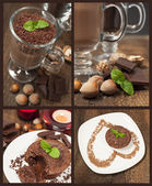 Collection of chocolate desserts — Stock Photo