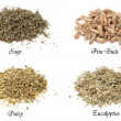 Royalty-Free Stock Photo: Collection of isolated dried herbs