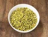 Green mung beans — Stock Photo