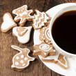 Homemade sugar cookies with coffee — Stock Photo #21983801