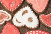 Sfondo con biscotti fatti in casa — Foto Stock