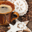 Stock Photo: Coffee and gingerbread cookies