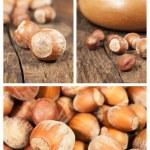 Set with hazelnuts — Stock Photo #23951815