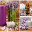 Lavender spa set — Stock Photo