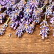 Stock Photo: Lavender on wooden background