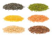Set di fagioli indiani — Foto Stock