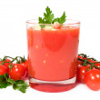 Stock Photo: Gazpacho with fresh cherry tomatoes and parsley