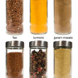 Set of spices in glass jars  — Stock Photo #28741045