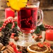 Christmas still life: mulled wine and spices — Stock Photo #32148975