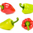Set of red and green peppers — Stock Photo #32200635