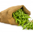 Green beans in a bag — Stock Photo