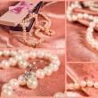 Foto de Stock  : Set of pearls