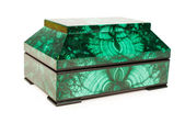 Malachite treasure-box — Stock Photo