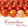 Carnelian beads close-up — Stock Photo