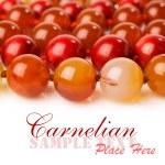 Carnelian beads close-up — Stock Photo